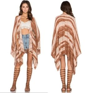 New!! Free People   The Big Trail Poncho Card